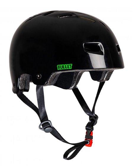 Bullet Safety Gear Casco Skateboard Bullet x Slime Balls Slime Logo Black