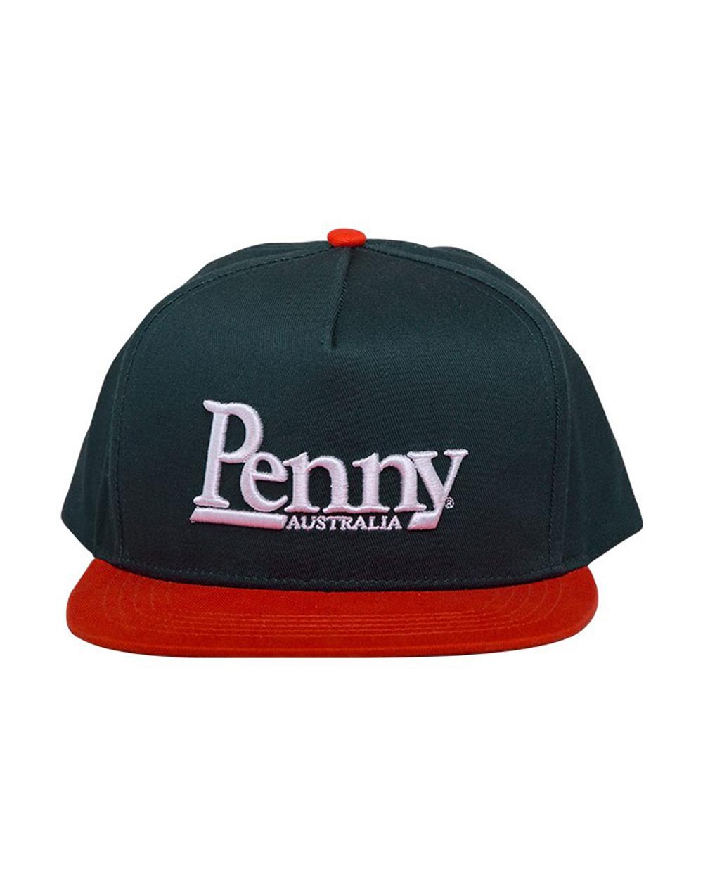 Penny Logo Casquette de Baseball Snapback Homme Dark Green/Orange