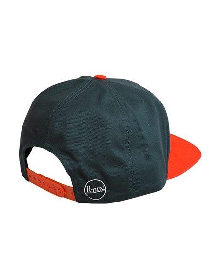 Penny Herren Snapback Baseball Cap Logo Dark Green/Orange