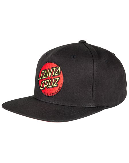 Santa Cruz Men's Baseball Cap Classic Dot Black