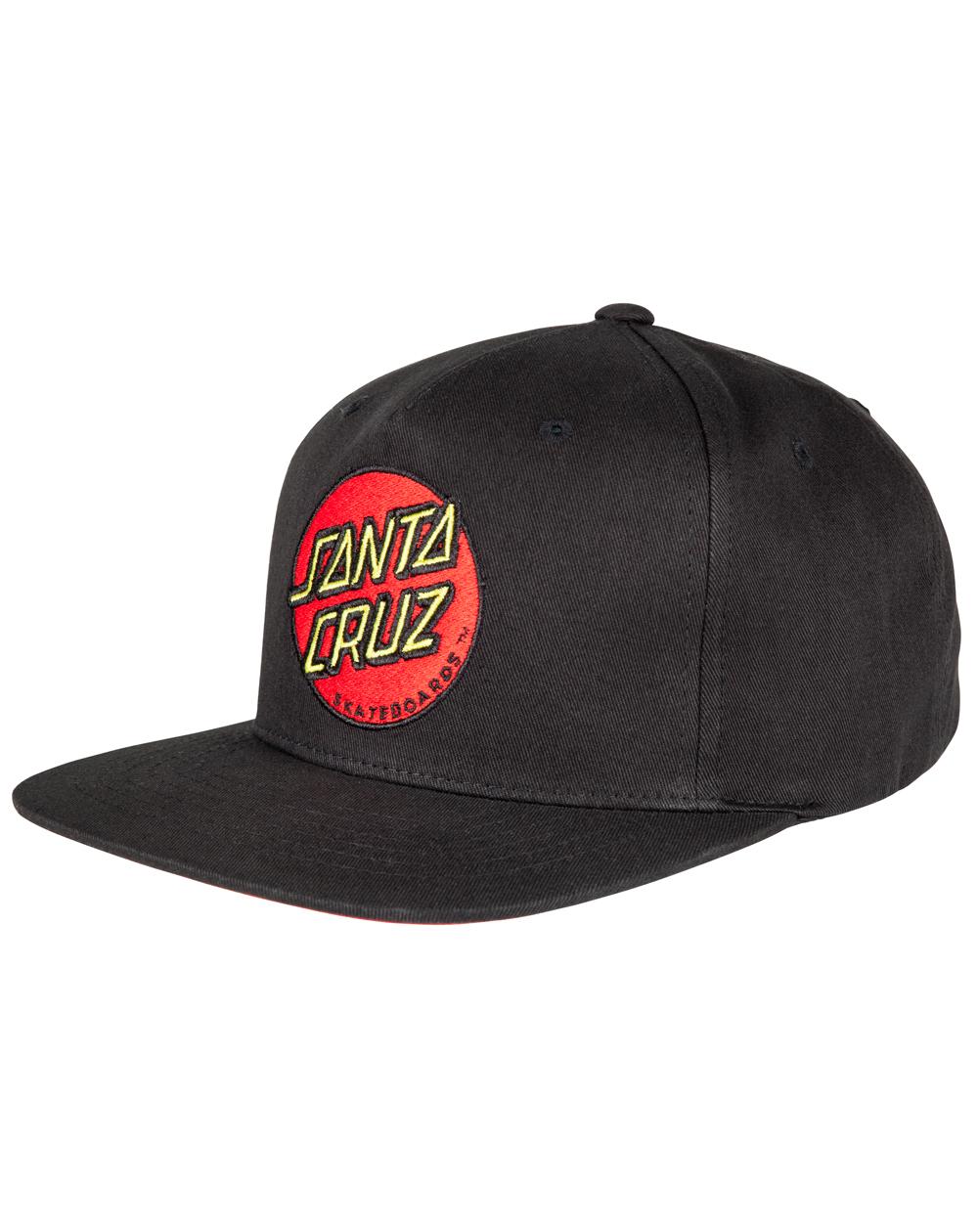 Santa Cruz Men's Baseball Cap Classic Dot Black