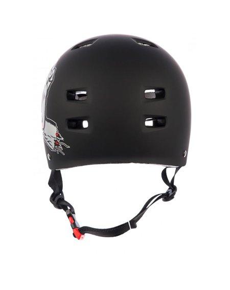 Bullet Safety Gear Bullet x Santa Cruz Screaming Hand Skateboard Helmet Matt Black