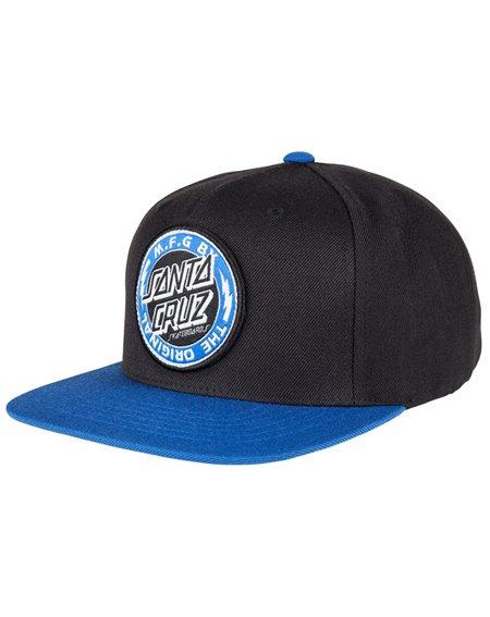 Santa Cruz Voltage Colour Cappellino da Baseball 5 Pannelli Uomo Black/Strong Blue