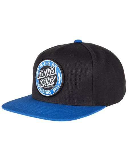 Santa Cruz Voltage Colour Gorra de Béisbol 5 Panels para Hombre Black/Strong Blue