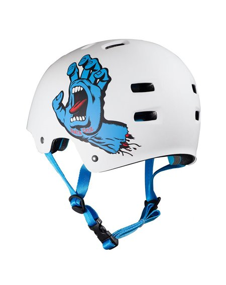 Bullet Safety Gear Bullet x Santa Cruz Screaming Hand Skateboard Helmet Matt White