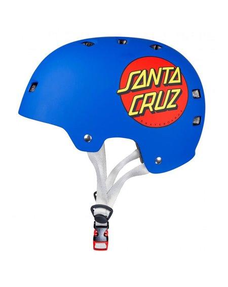 Bullet Safety Gear Capacete Skate Bullet x Santa Cruz Classic Dot Matt Blue