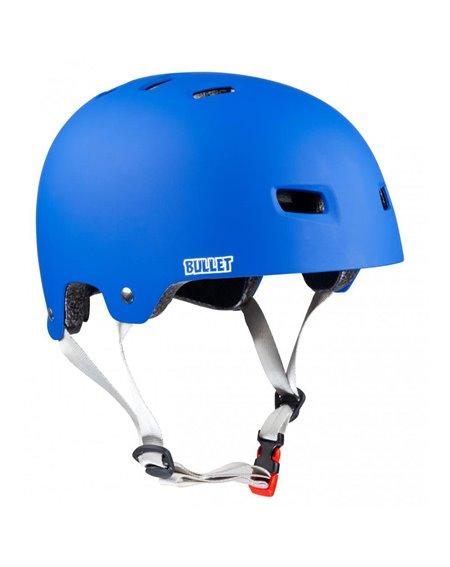 Bullet Safety Gear Bullet x Santa Cruz Classic Dot Skateboard Helmet Matt Blue