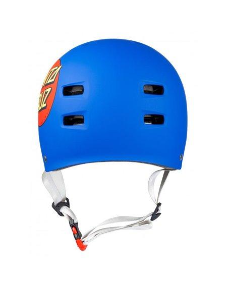 Bullet Safety Gear Casque Skateboard Bullet x Santa Cruz Classic Dot Matt Blue