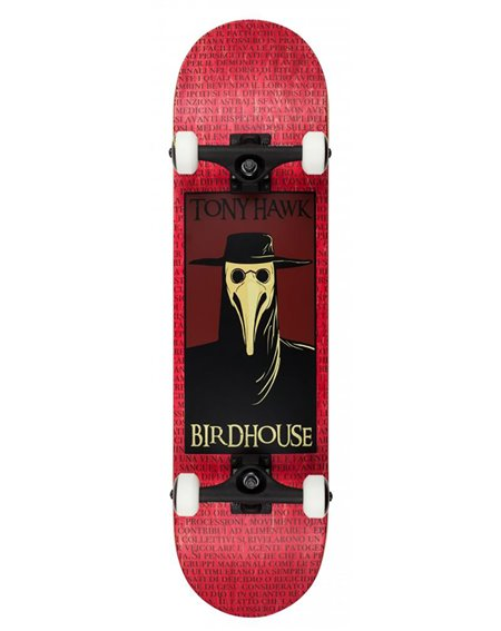 "Birdhouse Plague Doctor 8.00"" Complete Skateboard Red"