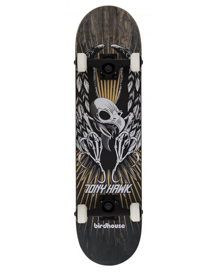 "Birdhouse Hawk Wing 7.75"" Complete Skateboard Black"