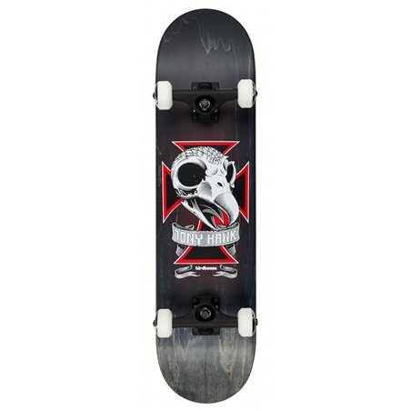 "Birdhouse Skateboard Skull 2 8.125"" Black"