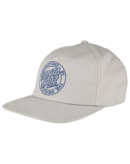Santa Cruz Men's 5 Panels Baseball Cap MF Outline Grey