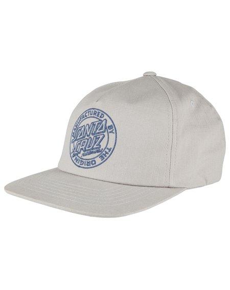 Santa Cruz MF Outline Cappellino da Baseball 5 Pannelli Uomo Grey