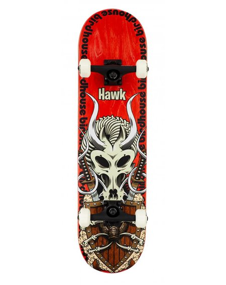 "Birdhouse Hawk Gladiator 8.125"" Complete Skateboard Red"