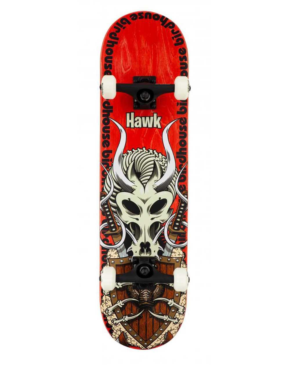 "Birdhouse Hawk Gladiator 8.125"" Complete Skateboard Red"