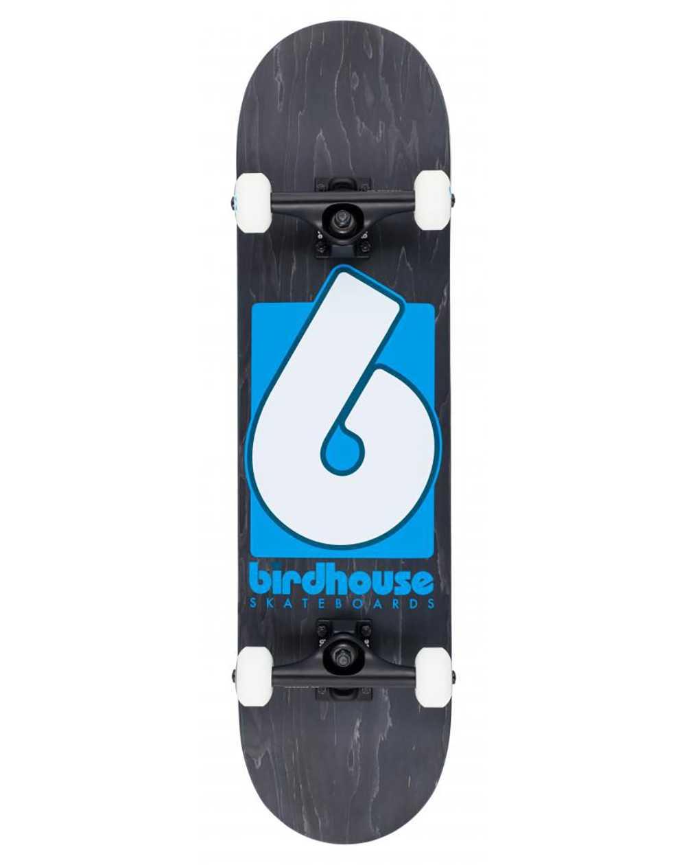 """Birdhouse Skate Montado B Logo 8.00"""" Black/Blue"""