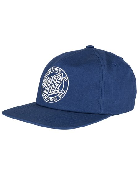 Santa Cruz Men's 5 Panels Baseball Cap MF Outline Navy