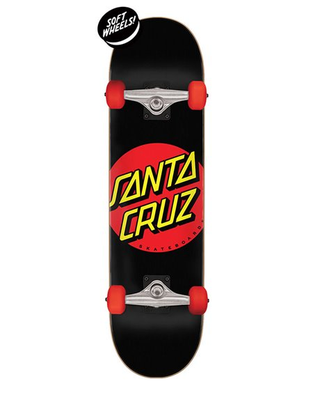 "Santa Cruz Classic Dot Super Micro 7.25"" Complete Skateboard"