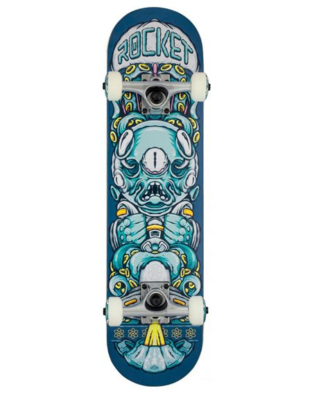"Rocket Alien Pile-up 7.375"" Complete Skateboard"