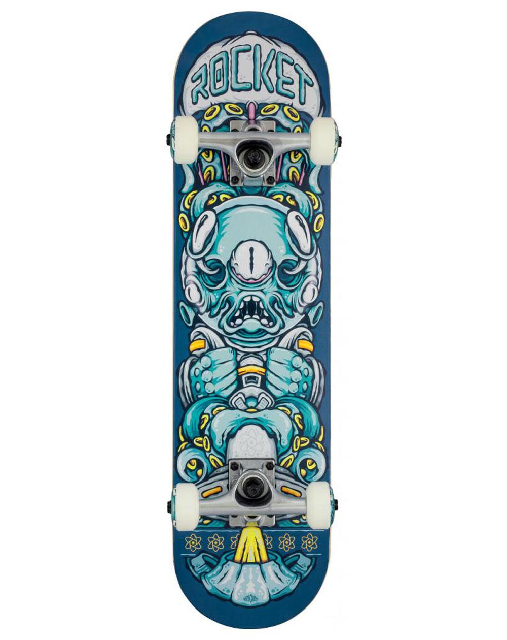 "Rocket Skateboard Alien Pile-up 7.375"""