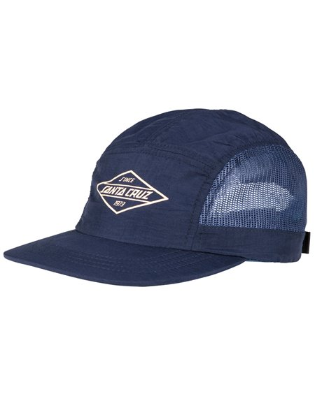 Santa Cruz Men's 5 Panels Baseball Cap Off Shore Navy