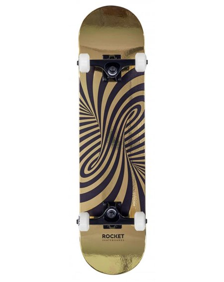 "Rocket Skateboard Completo Twisted Foil 7.50"" Gold"