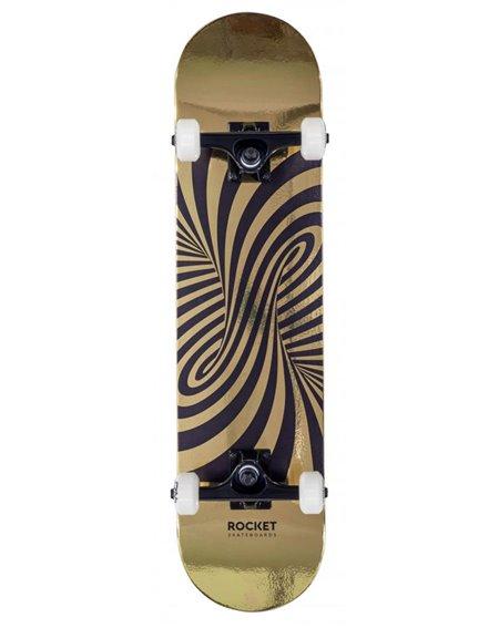 "Rocket Twisted Foil 7.50"" Komplett-Skateboard Gold"