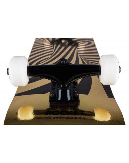 """Rocket Skateboard Twisted Foil 7.50"""" Gold"""