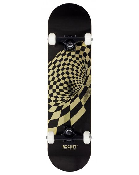 "Rocket Skateboard Completo Vortex Foil 8.00"" Gold"