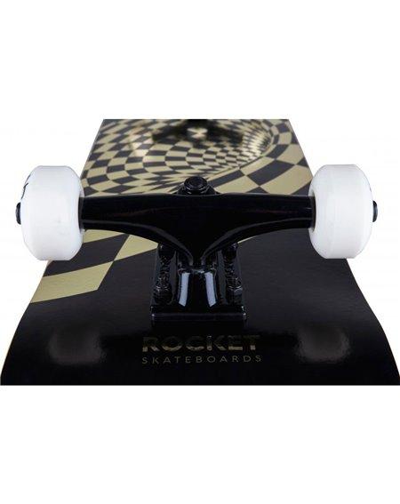 """Rocket Vortex Foil 8.00"""" Complete Skateboard Gold"""
