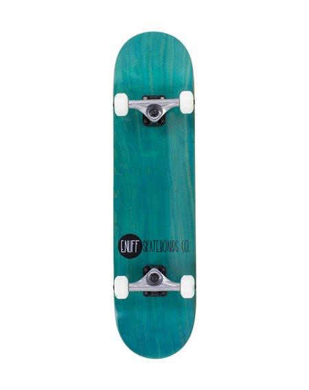 "Enuff Logo Stain 8.00"" Complete Skateboard Teal"