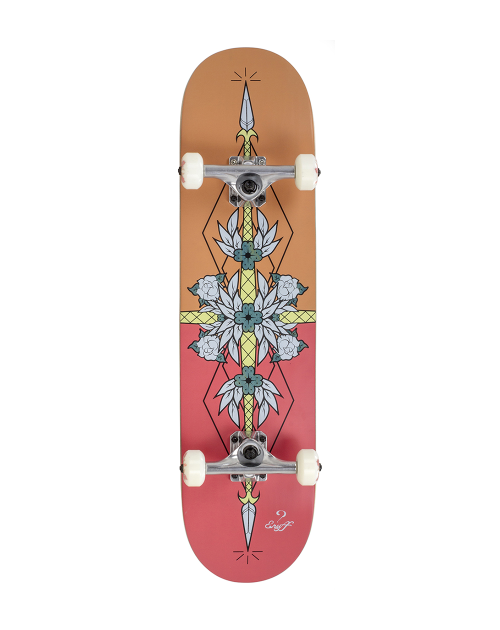 "Enuff Skateboard Flash 8.00"" Red/Orange"