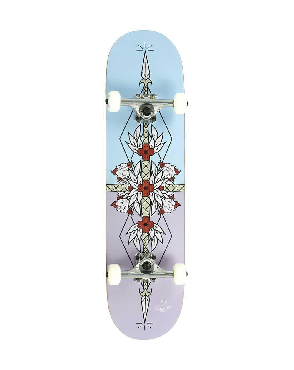 "Enuff Flash 8.00"" Complete Skateboard Purple/Blue"