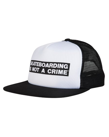 Santa Cruz Herren Trucker Baseball Cap Not a Crime White/Black