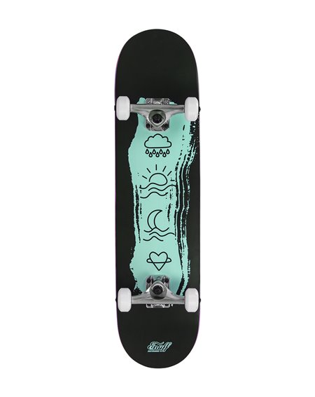 "Enuff Skateboard Icon 7.75"" Black/Green"