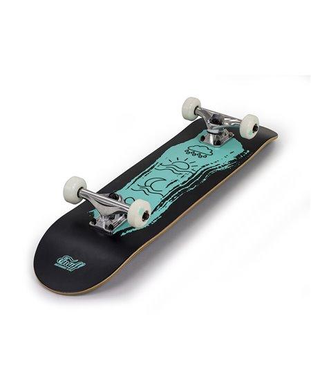 "Enuff Icon 7.75"" Complete Skateboard Black/Green"