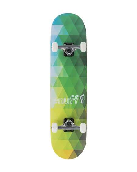 """Enuff Geometric 7.75"""" Komplett-Skateboard Green"""