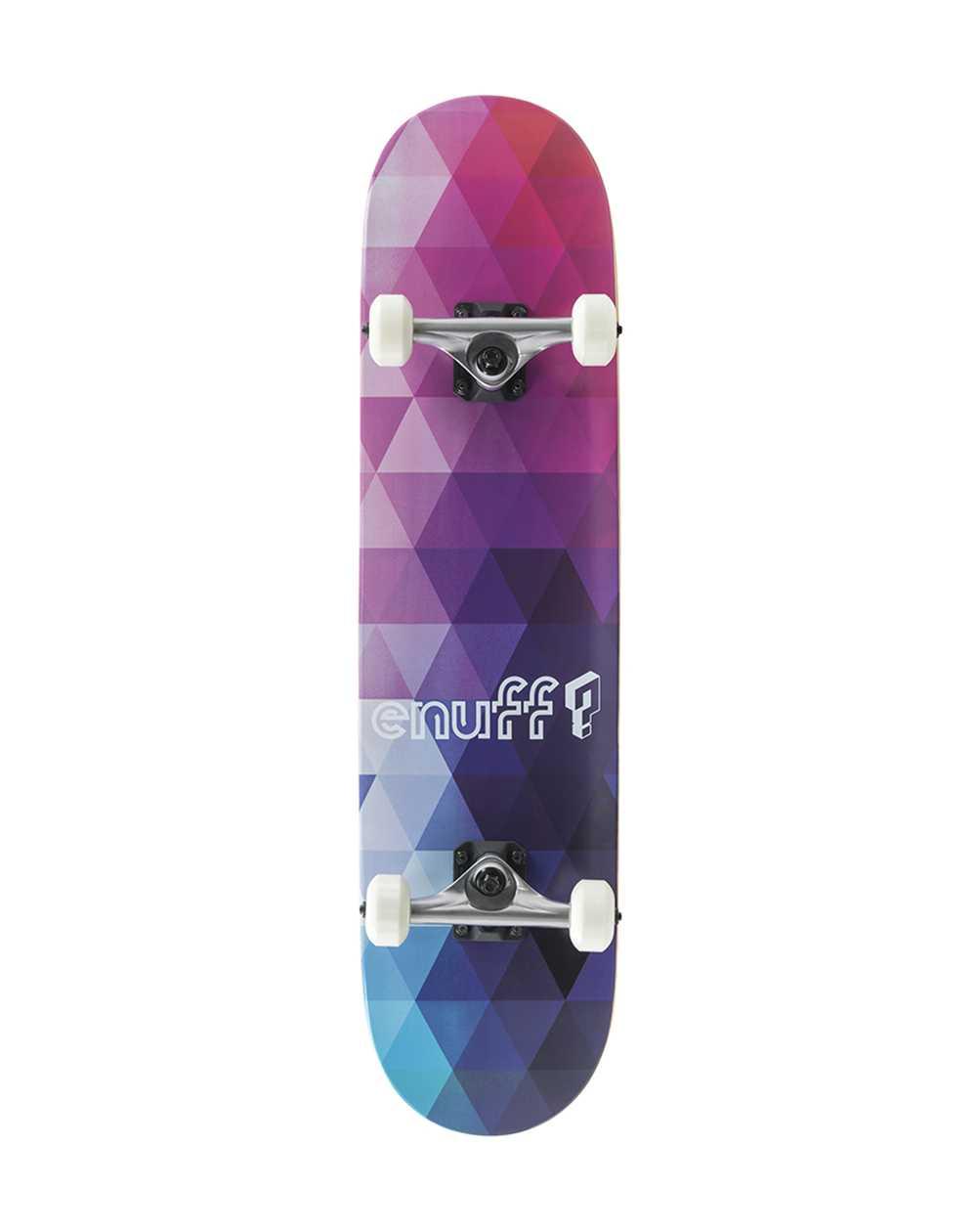 "Enuff Geometric 7.75"" Complete Skateboard Purple"