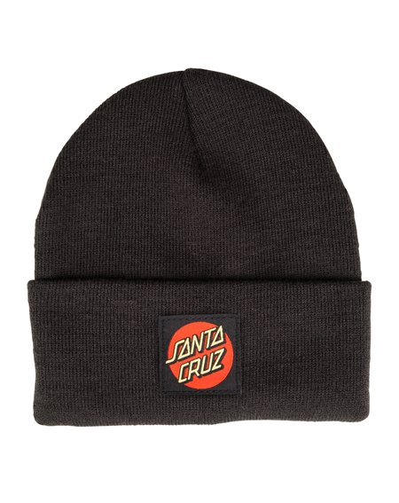 Santa Cruz Men's Beanie Classic Label Dot Black