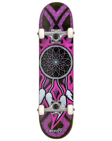 "Enuff Skateboard Dreamcatcher 7.75"" Grey/Pink"