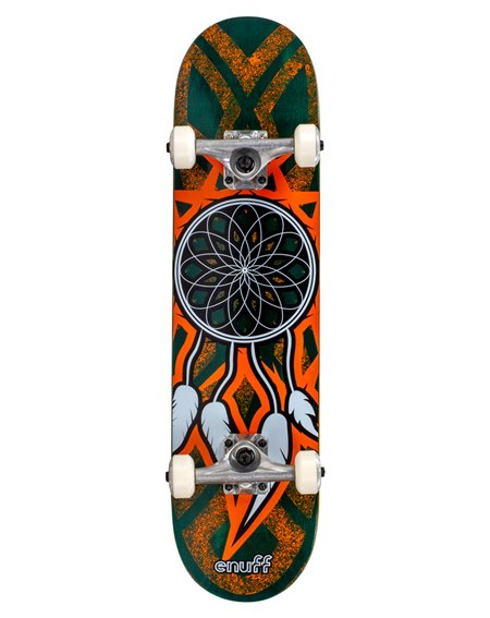 "Enuff Skateboard Completo Dreamcatcher 7.75"" Teal/Orange"