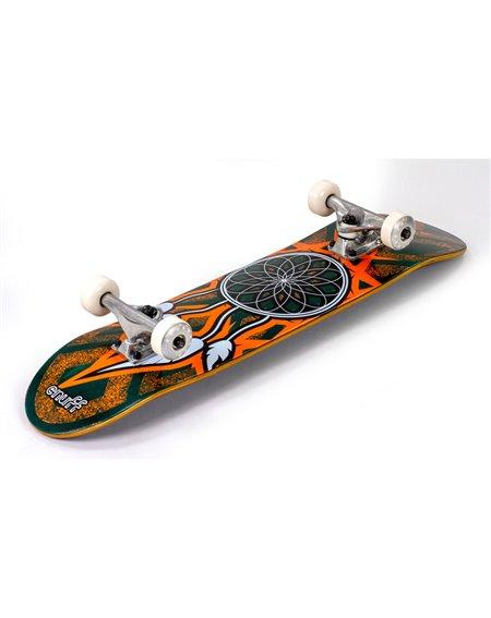 """Enuff Skateboard Completo Dreamcatcher 7.75"""" Teal/Orange"""
