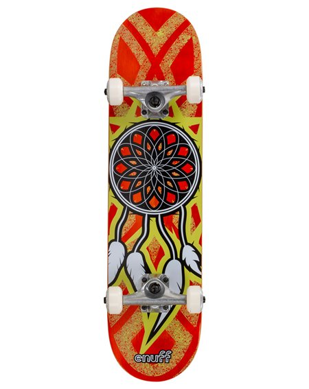 "Enuff Skateboard Dreamcatcher 7.75"" Orange/Yellow"