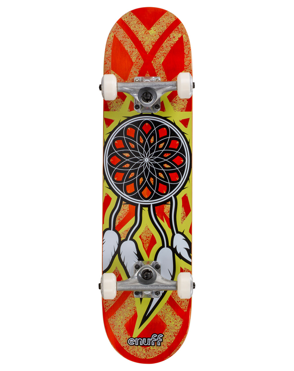 "Enuff Dreamcatcher 7.75"" Complete Skateboard Orange/Yellow"