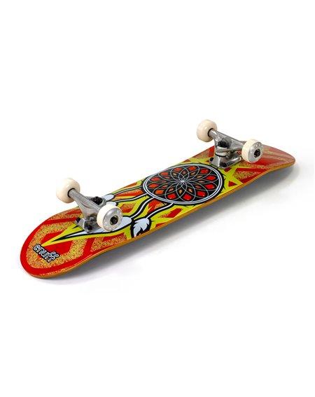 "Enuff Dreamcatcher 7.75"" Complete Skateboard Orange/Yellow"