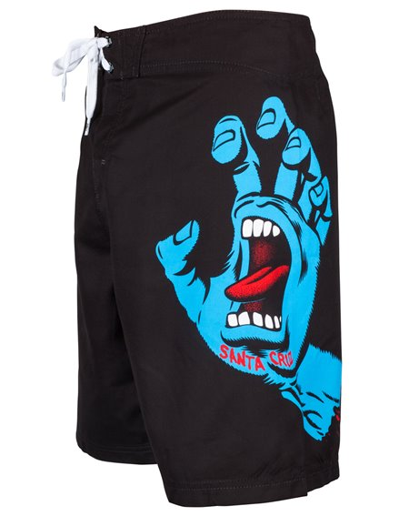 Santa Cruz Men's Board Shorts Screaming Hand Black