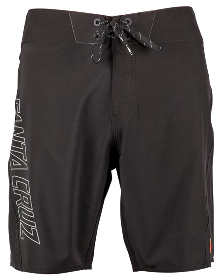 Santa Cruz Black Dot Shorts da Surf Uomo Black