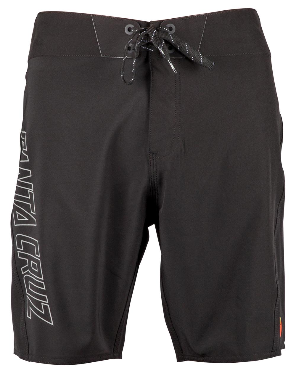 Santa Cruz Black Dot Shorts da Surf Uomo Black