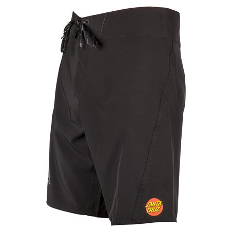 Santa Cruz Men's Board Shorts Black Dot Black