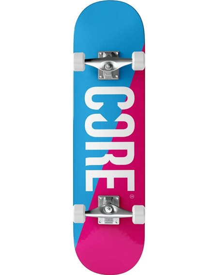 "Core Split 7.75"" Complete Skateboard Pink/Blue"